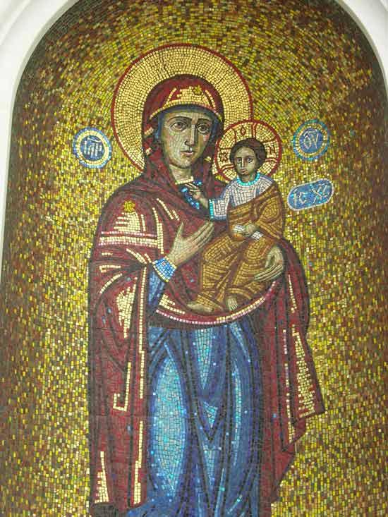 Икона Пресвятой Богородицы (фрагмент)