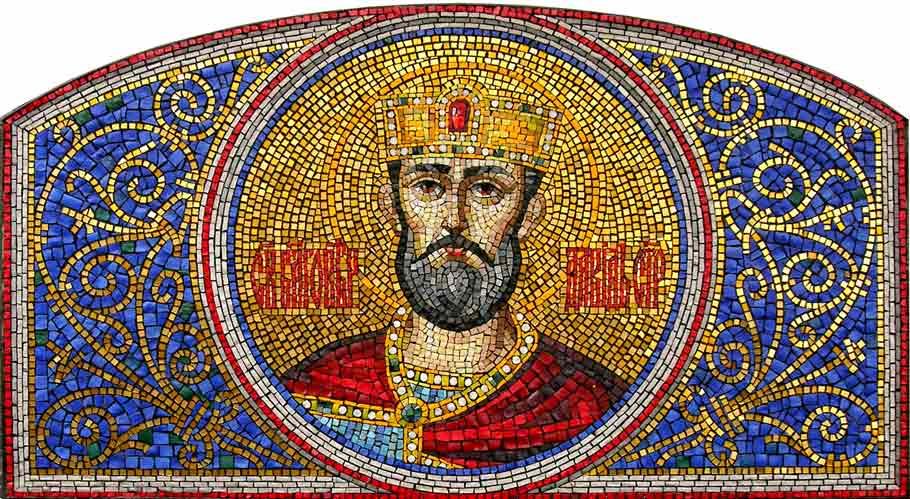 Икона Давид Строитель