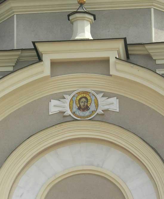 Икона из мозаики Спас Нерукотворный