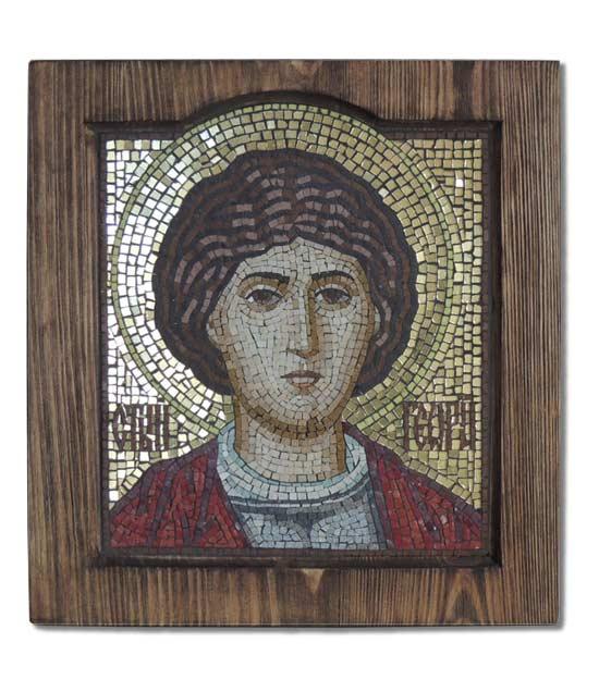 Икона из мозаики Св. Георгий Победоносец