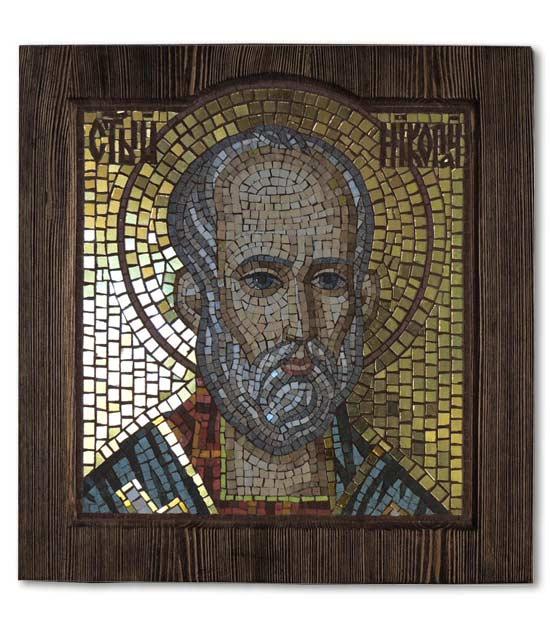 Мозаичная икона Святой Николай Чудотворец
