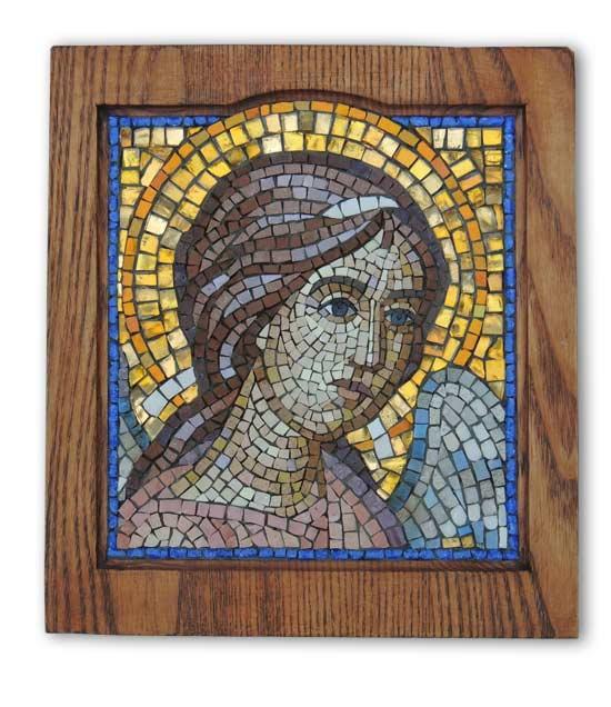 Икона из мозаики Ангел Хранитель