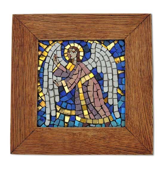 Мозаичная икона Ангел Хранитель