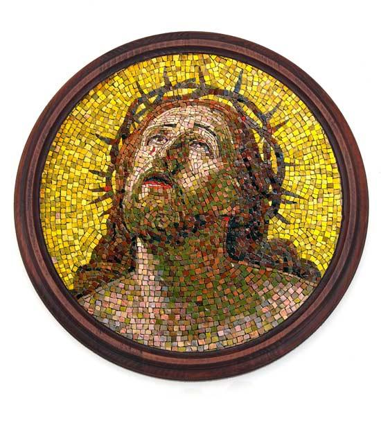 Иисус в терновом венце. Мозаика