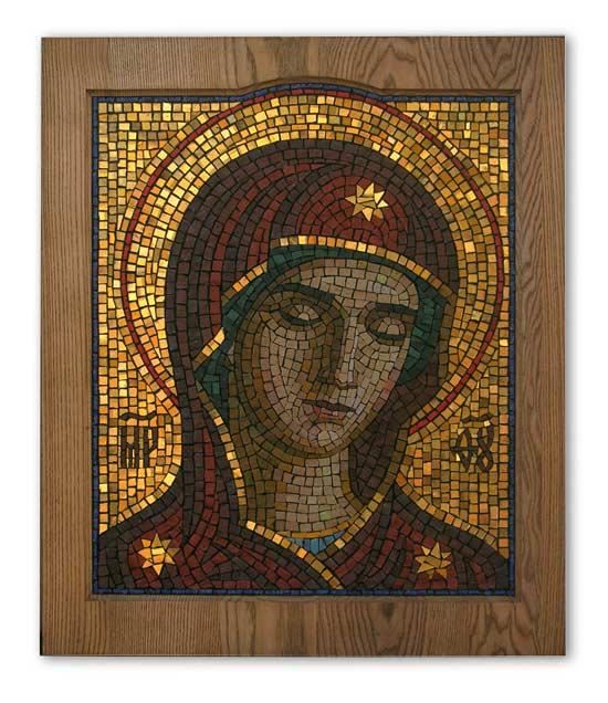 Икона из мозаики Пресвятая Богородица Умиление
