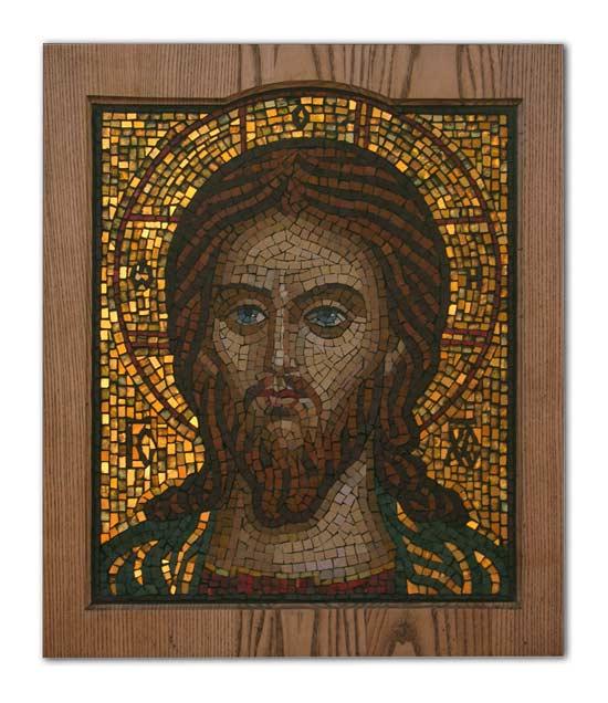 Икона из мозаики Господь Вседержитель