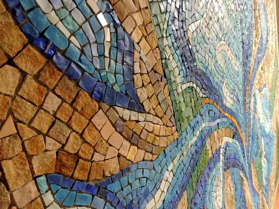 "Мозаичное панно ""Ирис"" (фрагмент)"